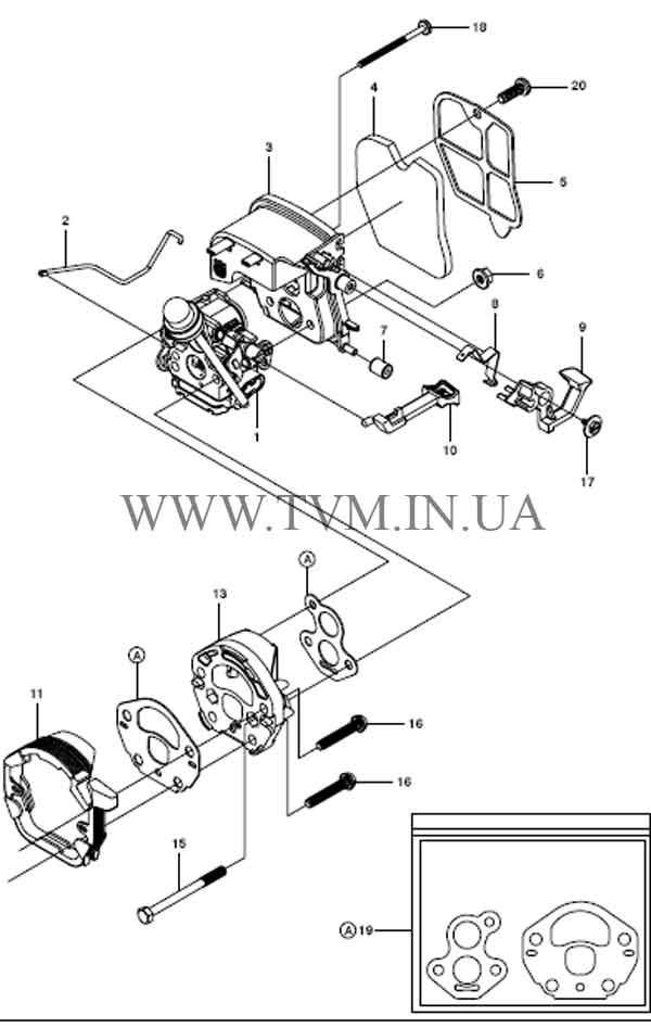 схема запчастей бензопилы HUSQVARNA 240 страница 8