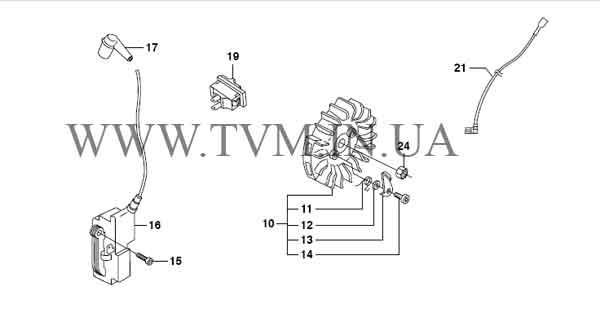 схема запчастей бензопилы HUSQVARNA 365 страница 4