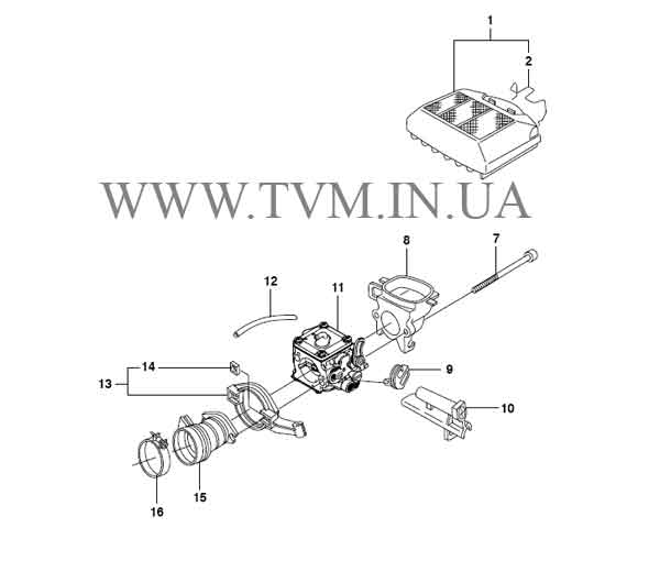 схема запчастей бензопилы HUSQVARNA 365 страница 5