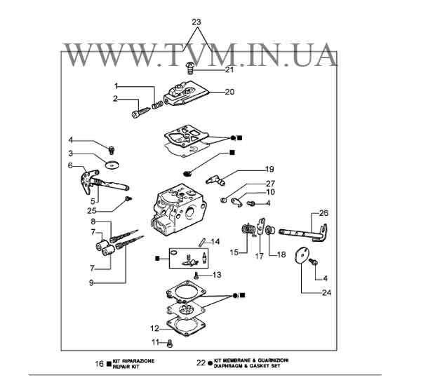 схема запчастей бензопилы OLEO-MAC 941  страница 9