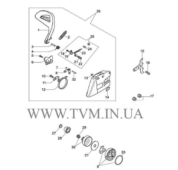схема запчастей бензопилы OLEO-MAC 947  страница 4