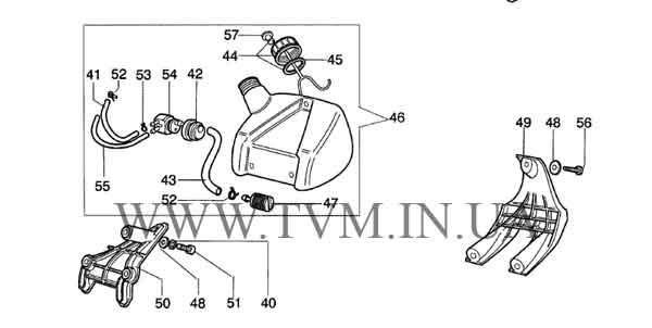 схема запчастей мотокосы OLEO-MAC SPARTA 25 и EFCO STARK 25  страница 2