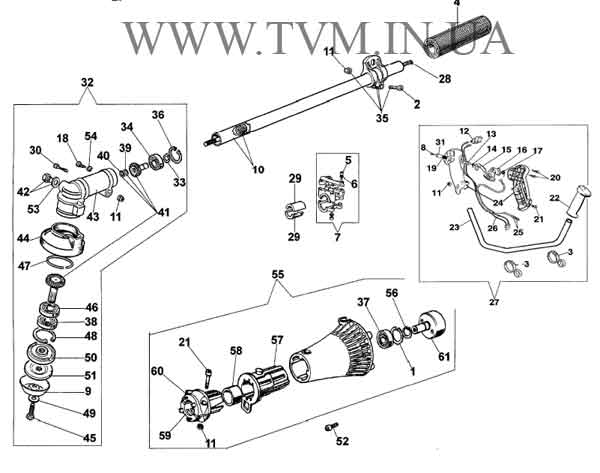 схема запчастей мотокосы OLEO-MAC SPARTA 25 и EFCO STARK 25 страница 4