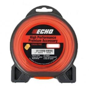 Леска для мотокосы, струна косильная ECHO 2,0 мм, 15м