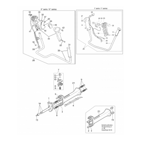 Трос управления газом вариант 2 мотокоса OLEO-MAC 746, 753, 755, EFCO 8460, 8550