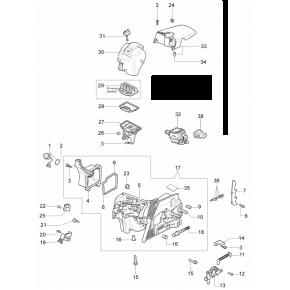 Корпус воздушного фильтра бензопила OLEO-MAC 937, 941С, EFCO 137, 141