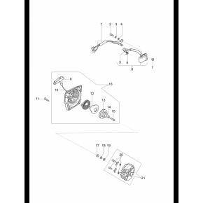 Маховик с крыльчаткой охлаждения бензопила OLEO-MAC 947, 951, 952, EFCO 147, 151, 152