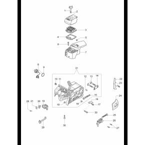 Тяга воздушной заслонки бензопила OLEO-MAC 947, 951, 952, EFCO 147, 151, 152