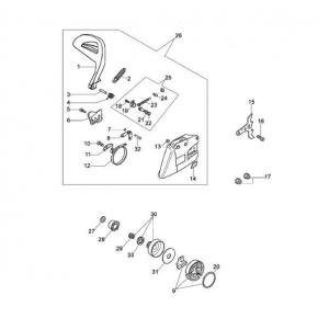 Винт натяжного устройства бензопила OLEO-MAC 947, 951, 952, EFCO 147, 151, 152