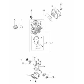 Хомут колена бензопила OLEO-MAC GS-35, 937, 941С, EFCO MT-350, 137, 141