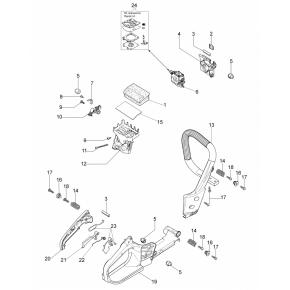 Переходник карбюратора бензопила OLEO-MAC GS-35, EFCO MT-350