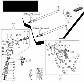 Подшипник шестерен редуктора верхний мотокоса OLEO-MAC SPARTA 25, EFCO STARK 25