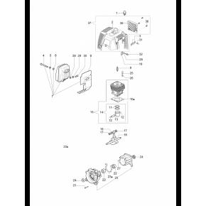 Коленчатый вал мотокоса OLEO-MAC SPARTA 37, 38, 42, 44, EFCO STARK 37, 38, 42, 44