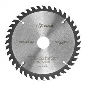 Диск пильный S&R Meister Wood Craft 185x30/25,4/20x2,2 мм