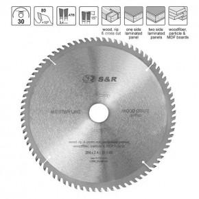 Диск пильный S&R WoodCraft Meister 254x30x2,6мм АТВ 80 зуб.