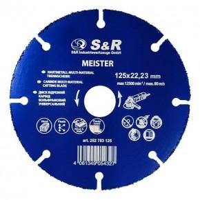 Диск карбит-вольфрам S&R 125x22.2 мм универсальный
