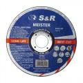 Круг отрезной по металлу и нержавеющей стали S&R Meister A 60 S BF 125x0,8x22,2