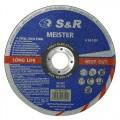 Круг отрезной по металлу и нержавеющей стали S&R Meister A 36 S BF 150x1,6x22,2