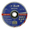 Круг зачистной по металлу S&R Meister A24 BF 180x6,0x22,2