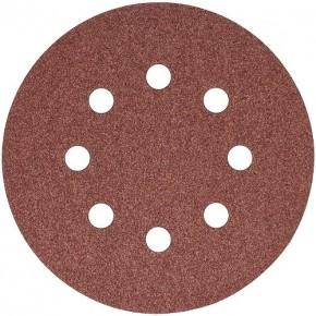 Набор шлифовальных кругов S&R D125 P180 - 8 отверстий, 5 шт.