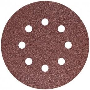 Набор шлифовальных кругов S&R D125 P80 - 8 отверстий, 5 шт.
