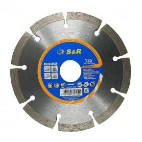 Диск отрезной алмазный S&R Meister сегментный по бетону 125 мм.
