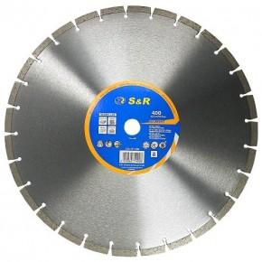 Диск отрезной алмазный S&R Meister сегментный по бетону 400 мм.