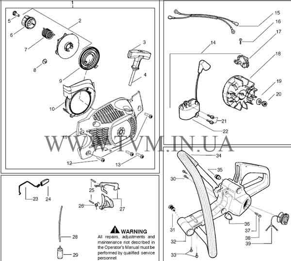 схема запчастей бензопилы HUSQVARNA 137 страница 4