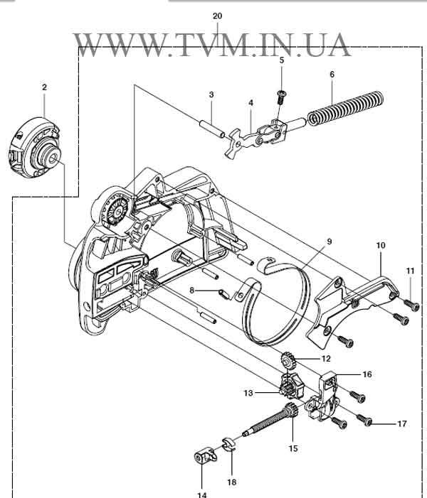 схема запчастей бензопилы HUSQVARNA 240 страница 1