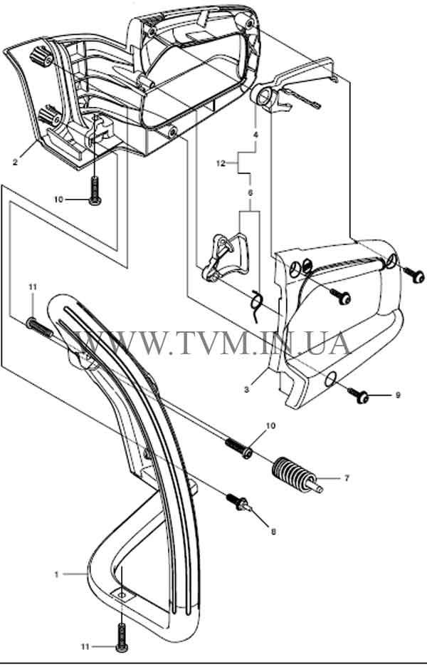 схема запчастей бензопилы HUSQVARNA 240 страница 12