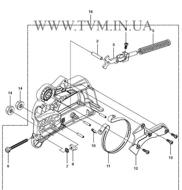 схема запчастей бензопилы HUSQVARNA 240 страница 2