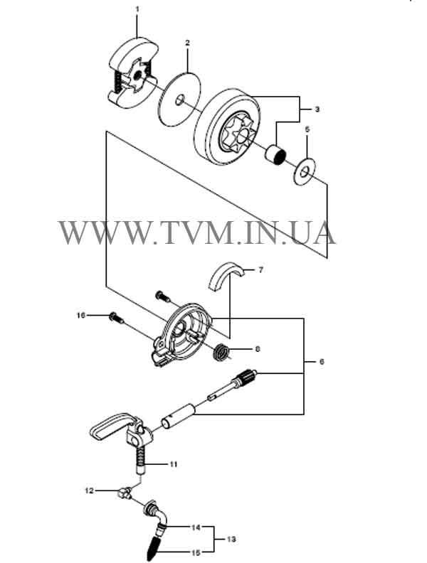 схема запчастей бензопилы HUSQVARNA 240 страница 4