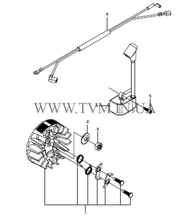 схема запчастей бензопилы HUSQVARNA 240 страница 5