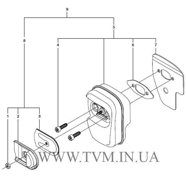 схема запчастей бензопилы HUSQVARNA 240 страница 6