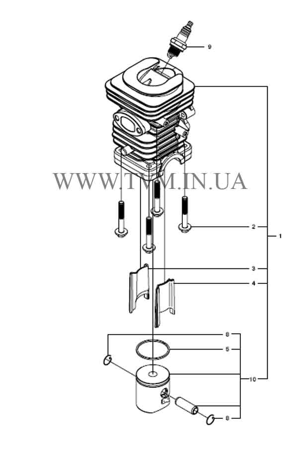 схема запчастей бензопилы HUSQVARNA 240 страница 9