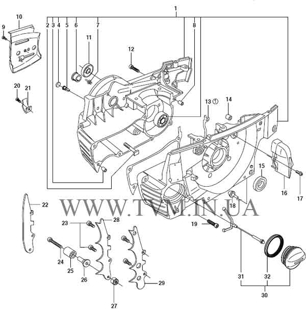 схема запчастей бензопилы HUSQVARNA 365 страница 10
