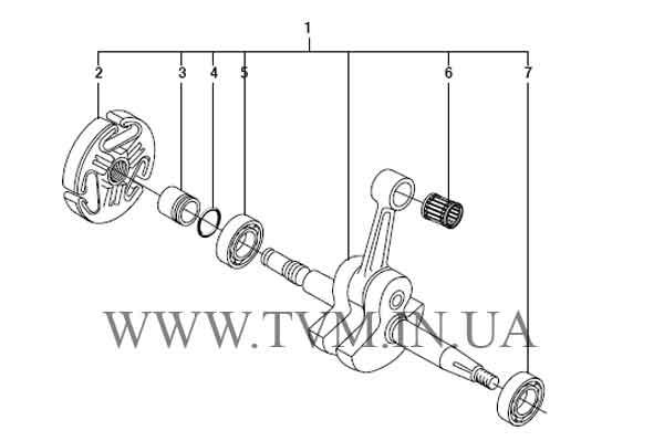 схема запчастей бензопилы HUSQVARNA 365 страница 11