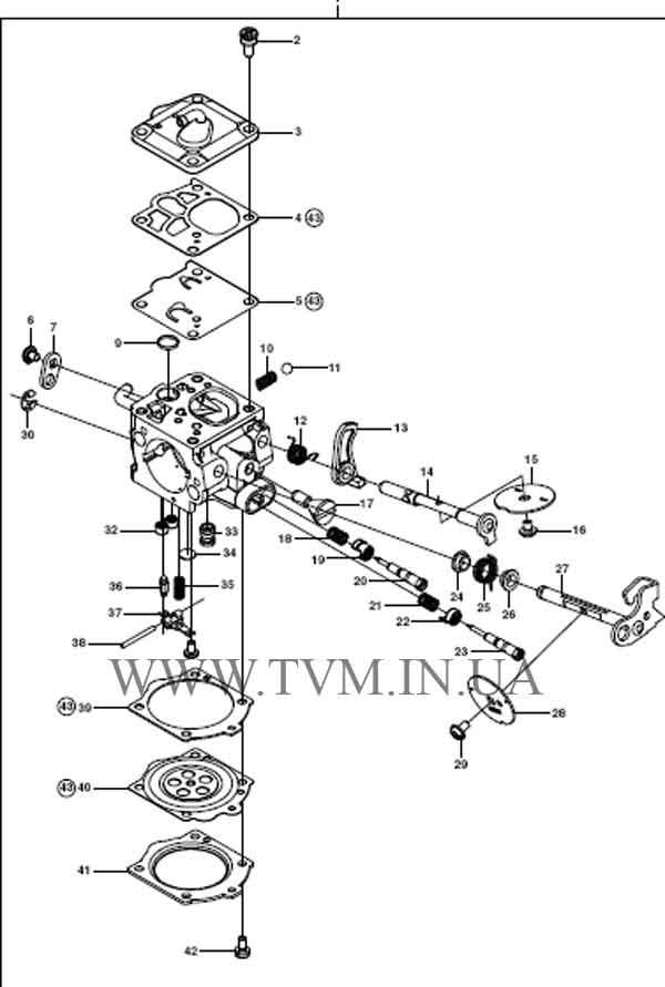 схема запчастей бензопилы HUSQVARNA 365 страница 12