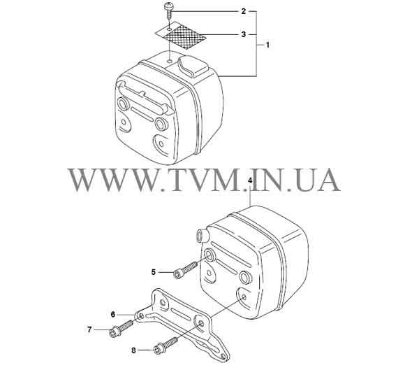схема запчастей бензопилы HUSQVARNA 365 страница 6