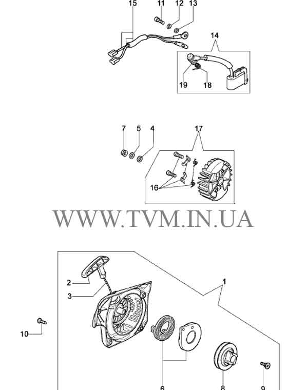 схема запчастей бензопилы OLEO-MAC 937 страница 2