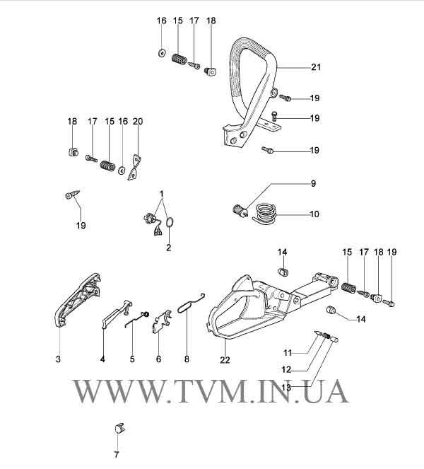 схема запчастей бензопилы OLEO-MAC 937 страница 4