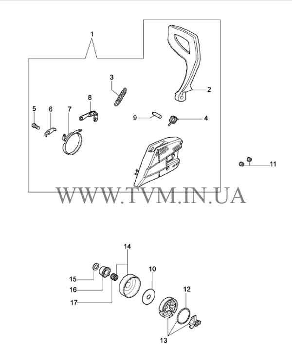 схема запчастей бензопилы OLEO-MAC 937 страница 5
