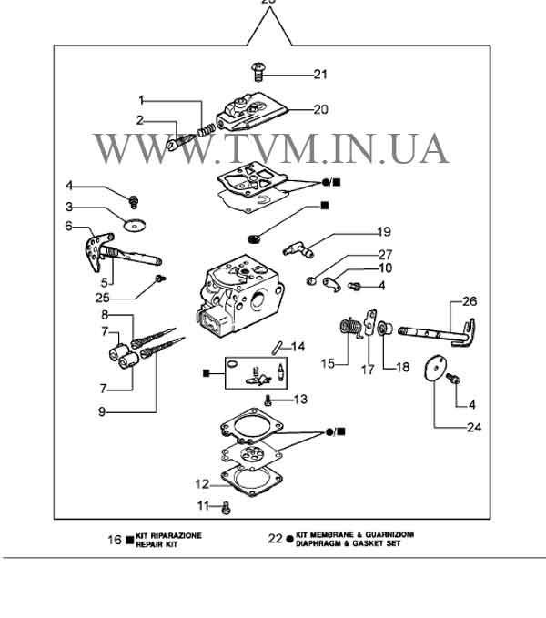 схема запчастей бензопилы OLEO-MAC 937 страница 6