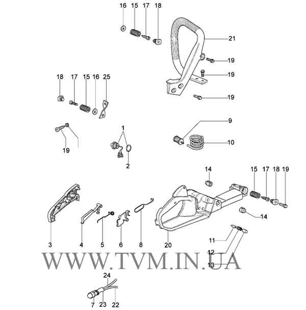 схема запчастей бензопилы OLEO-MAC 941  страница 7