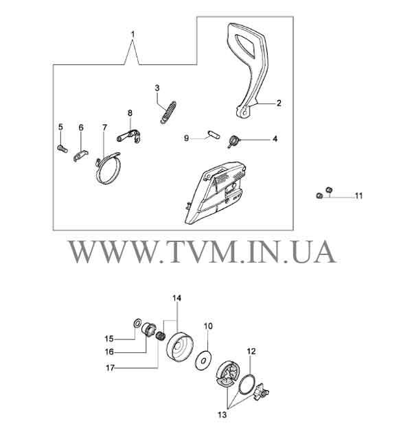 схема запчастей бензопилы OLEO-MAC 941  страница 8