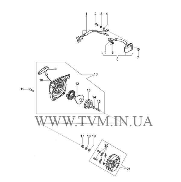 схема запчастей бензопилы OLEO-MAC 952  страница 2