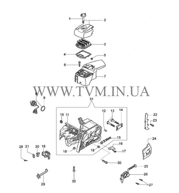 схема запчастей бензопилы OLEO-MAC 952  страница 3