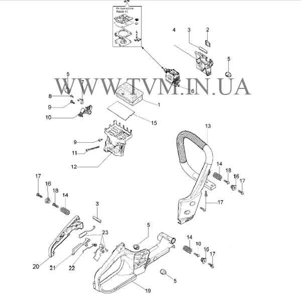 схема запчастей бензопилы OLEO-MAC GS-35 страница 3