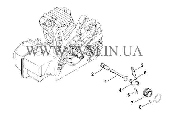 схема запчастей бензопилы STIHL MS 230 страница 3